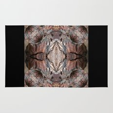 Petrified Wood in Abstract Rug