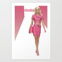 MOSCHINO RUNWAY BARBIE G… Art Print