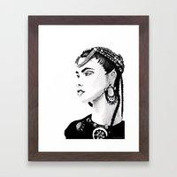 Étnica Framed Art Print