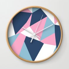 Abstraction Pink Wall Clock