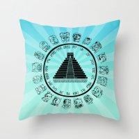 The Maya Calendar - Digital Work Throw Pillow