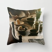 Lovely Wood Throw Pillow