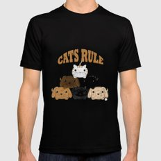 Cats Rule - The Animal Pyramid Mens Fitted Tee Black SMALL