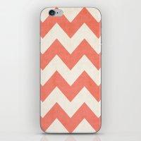 Vintage Coral Chevron iPhone & iPod Skin