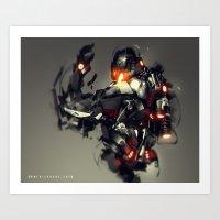 Ultron Speedpaint Fan Art Art Print