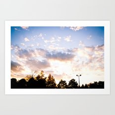 When the sun goes down Art Print
