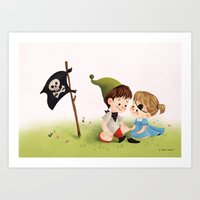 Two Little Pirates Art Print