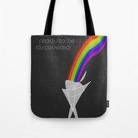 Tote Bag featuring You are a rainbow in a cloud, ready to be discovered! by Inspire me Print