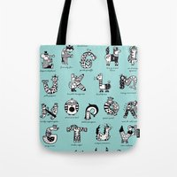 A to Z animals Tote Bag