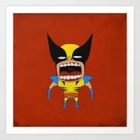 Art Print featuring Screaming Wolverine by That Design Bastard