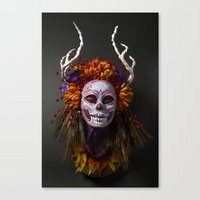 Autumn Muertita Front Canvas Print