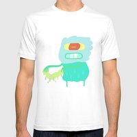 Drip Monster Mens Fitted Tee White SMALL