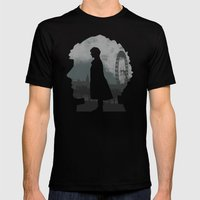 Sherlock Holmes World Mens Fitted Tee Black SMALL