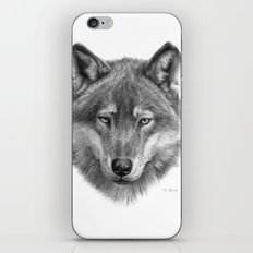 Wolf face G084 iPhone & iPod Skin