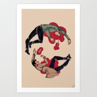 Art Print featuring Love, Live, Love, Die. -… by Cordelia Robles