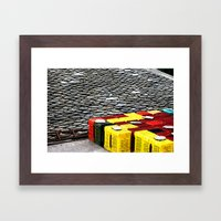 Yellow & Red Touches Framed Art Print