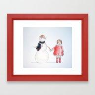 Snowfriend Framed Art Print