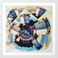 Tiny Winy Planet Collage Art Print