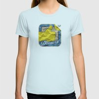 Donuts Womens Fitted Tee Light Blue SMALL