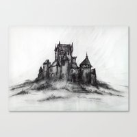 1989 - Spooky Castle Canvas Print