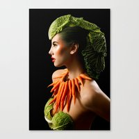 Eat Your Greens Canvas Print
