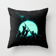 Freedom Cats Throw Pillow