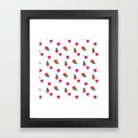 Little Pink Flowers Framed Art Print
