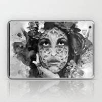 Abstract Portrait Blk/Wh… Laptop & iPad Skin