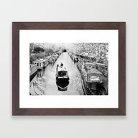 London Canal During Wint… Framed Art Print