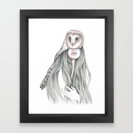 Framed Art Print featuring Medicine Woman by Andrea Hrnjak