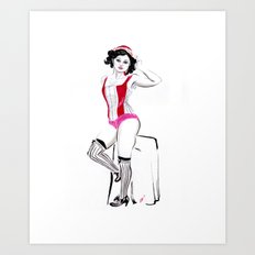 French Girl Art Print