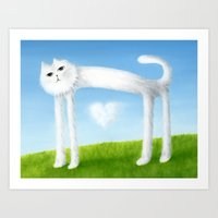 Skinny Cat With Cloud He… Art Print