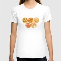 Olympizza Womens Fitted Tee White SMALL