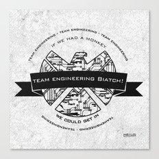 team engineering Canvas Print
