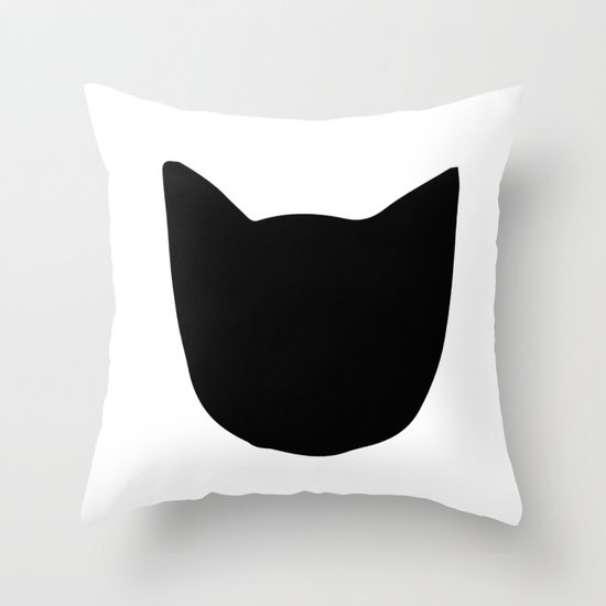 Cat! 2.0 Throw Pillow by Etiquette Society6