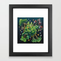 The consoling planet Framed Art Print