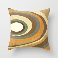 retro rings Throw Pillow