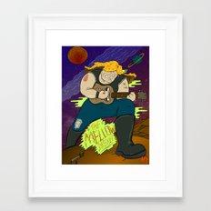 Mellow Shredder Framed Art Print