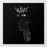 What the... Canvas Print