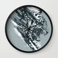 white tigra Wall Clock