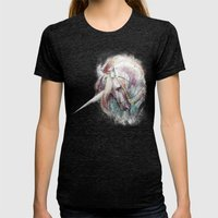 Unicorn Womens Fitted Tee Tri-Black SMALL