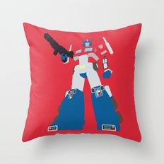 Transformers G1 - Optimus Prime Throw Pillow