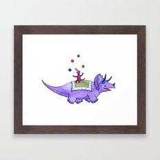 Trick-ceratops! Framed Art Print