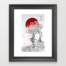 Kireji (cutting word) Framed Art Print