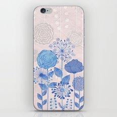 Light Blue Flowers iPhone & iPod Skin