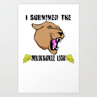 Surviving the Milwaukee Lion Art Print
