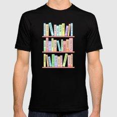 Classics Bookshelf SMALL Black Mens Fitted Tee