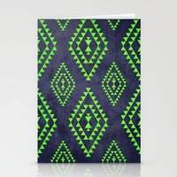 Navy & Lime Tribal Inspi… Stationery Cards