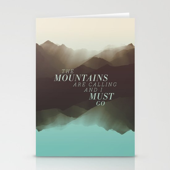 Mountains - Color Stationery Card
