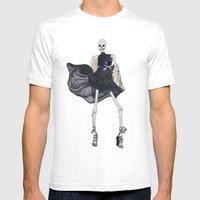 Skeleton In Leather & Fu… Mens Fitted Tee White SMALL
